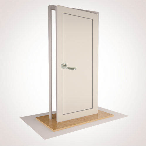 --BROOK-- Pre Hung Door- 95% Cropped with Hardware