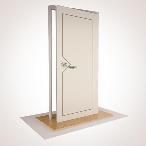 "--ISLE-- SINGLE HUNG - with ""S"" Range Leverset & Doorstop"