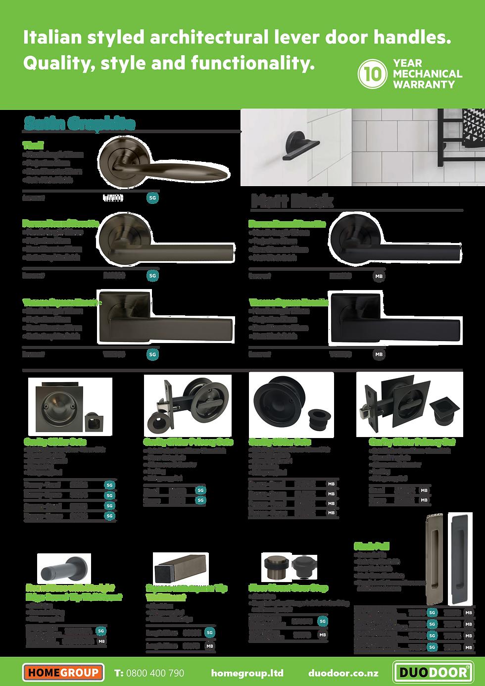 DUO DOOR Hardware Brochure Milano pg 3.p
