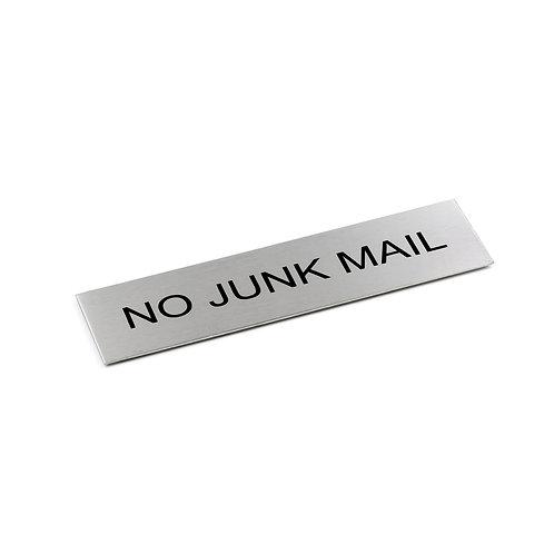Door Sign - NO JUNK MAIL - 170 x 50