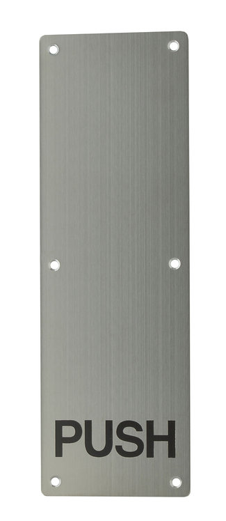 502 SS - Push Plate - Engraved - 300 x 100 -Stainless Steel