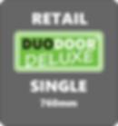 Duo Door Deluxe Single grey background r