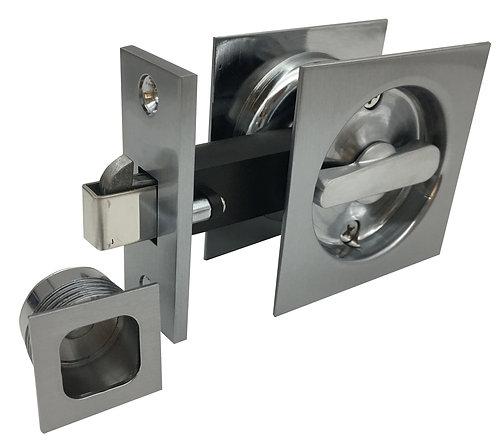541 SC - Cavity Privacy Square - Satin Chrome