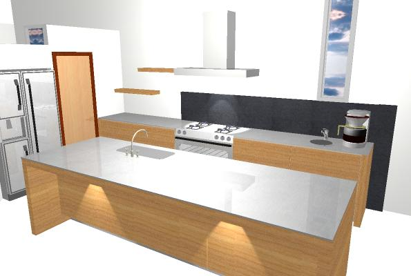 Kitchen 3 3D view