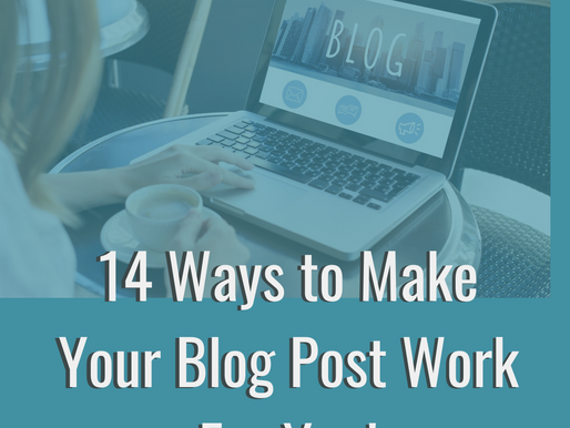 QUICK: 14 things to do with every blog post to increase your SEO (+free download!)
