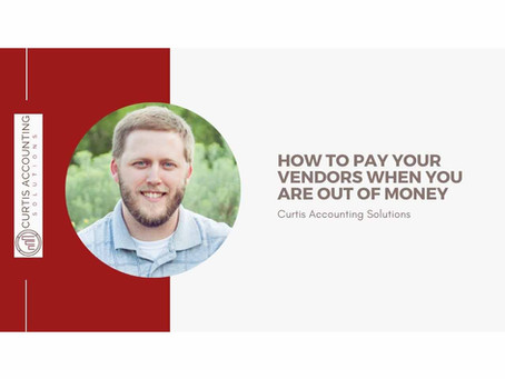 How To Pay Your Vendors When You Are Out of Money