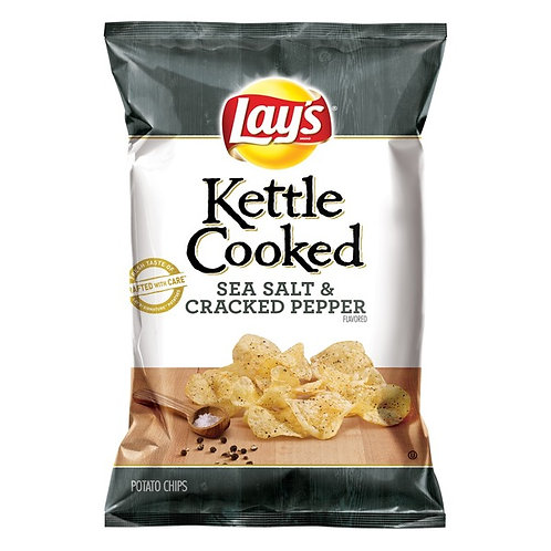 Lays Kettle Cooked Sea Salt and Black Pepper 5oz