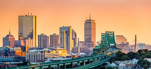 Tobin bridge, Zakim bridge and Boston sk