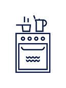 picto cusinière, cuicine, torchon sérigraphié, talier illustré, mer, homard, mermade, sérigraphie