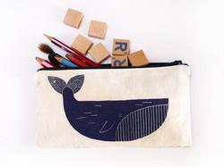 Trousse baleine - sérigraphie