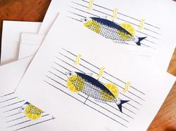 Poster sardine grillée - sérigraphie