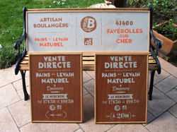 Panneaux marchés boulangerie