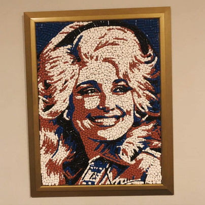 """Dolly pills 18x24"""" sold"""