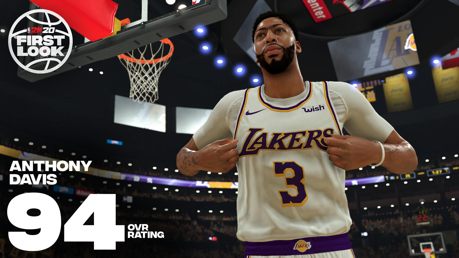 Nba 2k20 Cover Star Anthony Davis Shows Off Lakers Jersey