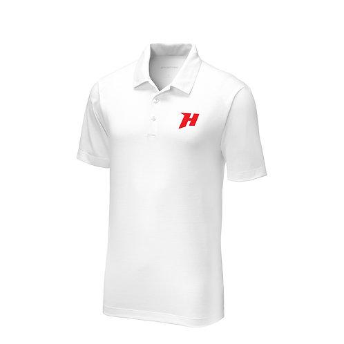 Embroidered Tri-blend White Golf Shirt - ST405