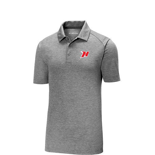Embroidered Tri-blend Dark Grey Golf Shirt - ST405