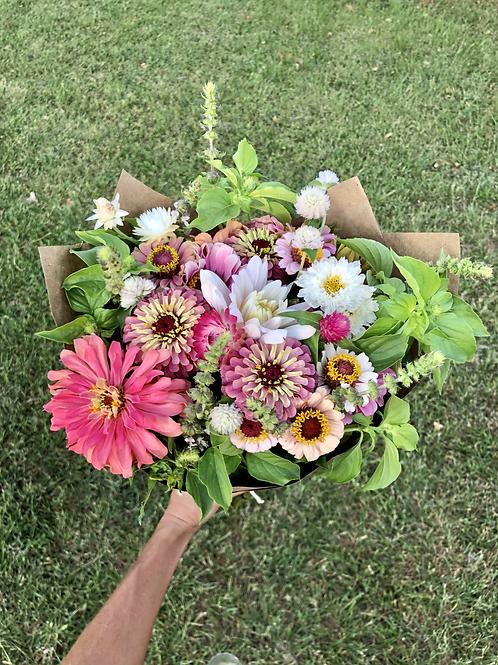 Seasonal Farm Fresh Wrapped Bouquet