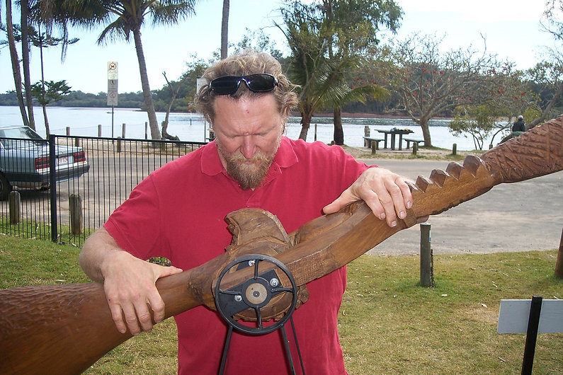 Sculptor Greg Windsor