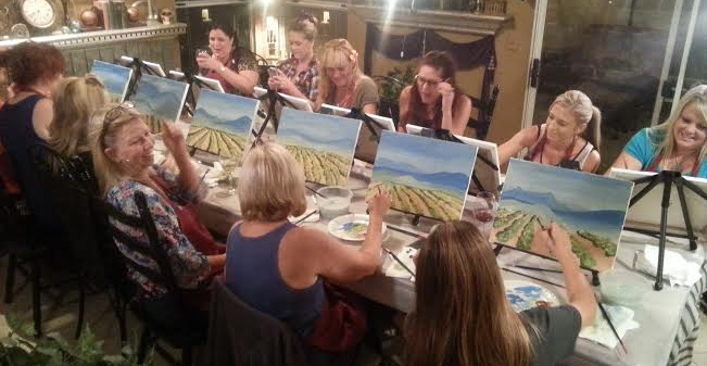 Painting, Wine, Conversation