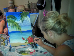Bride Finishing her Masterpiece