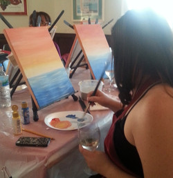 Glass of Wine and a Paint Brush