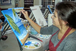 Painting at Maurice Car'rie Winery