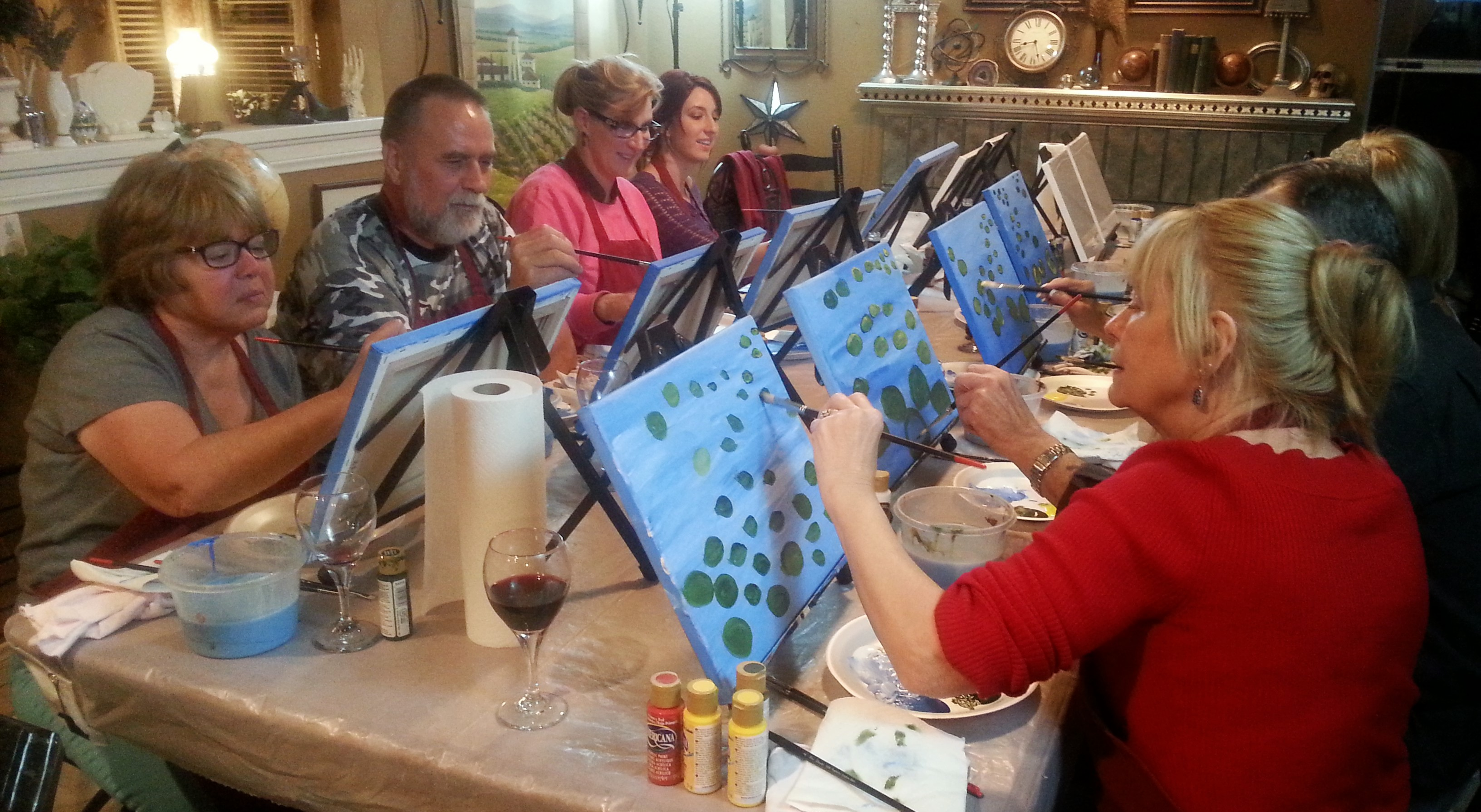 Brush Strokes and Wine