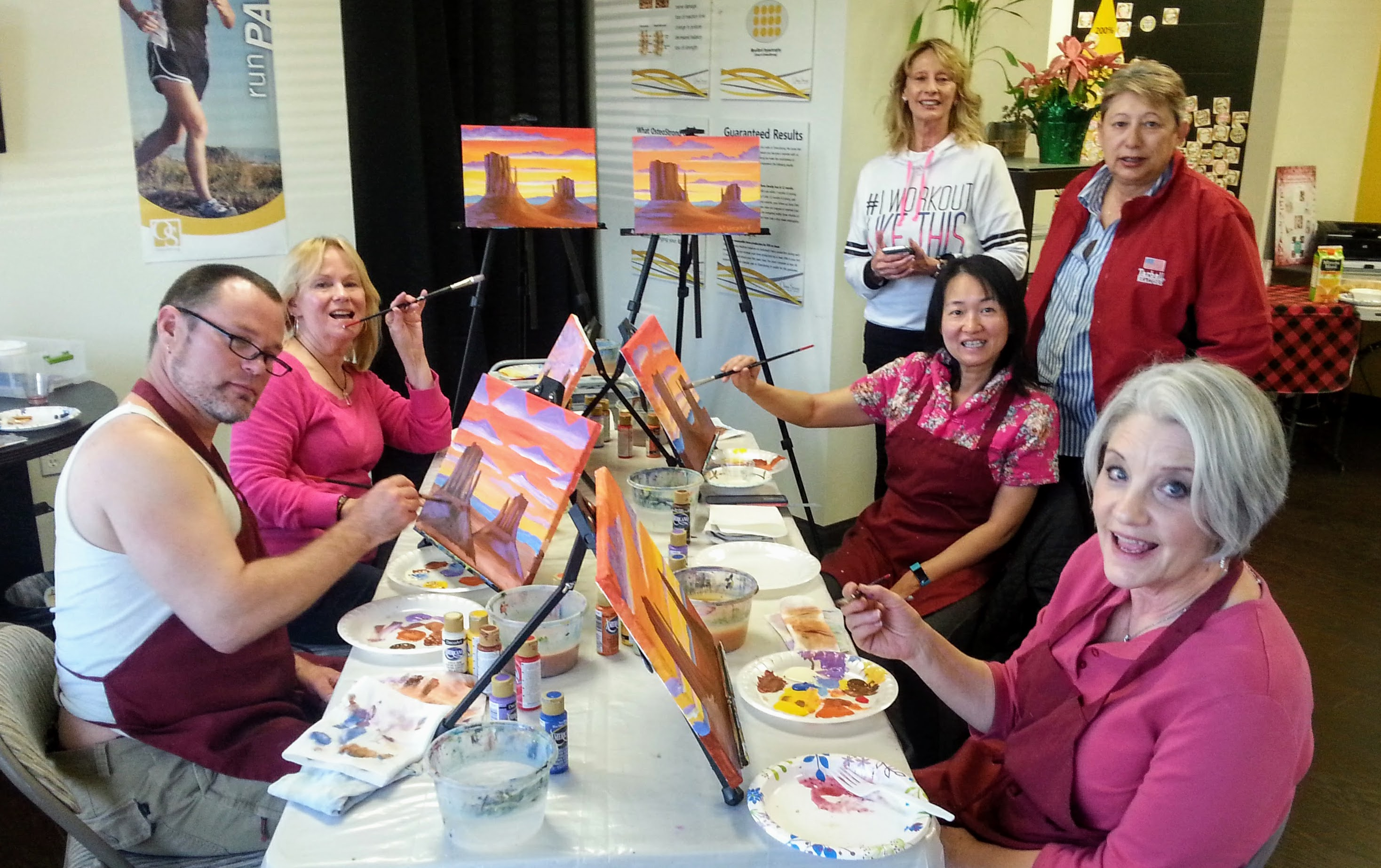 Paint N Sip Event at OsteoStrong