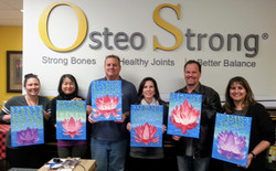 Paint N Sip at OsteoStrong