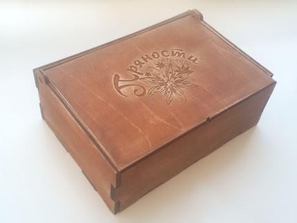 "Упаковка из дерева в стиле ""винтаж"""