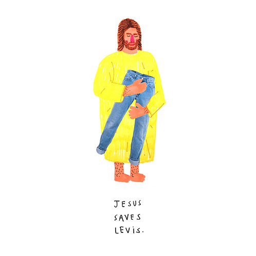 Jesus Saves Levis