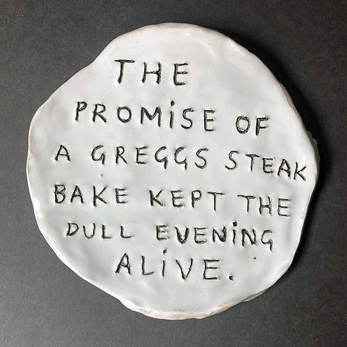The promise of a greggs steak bake kept the dull evening alive.