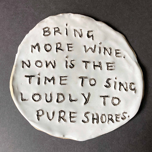 Bring more wine. Now is the time to sing loudly to Pure Shores.