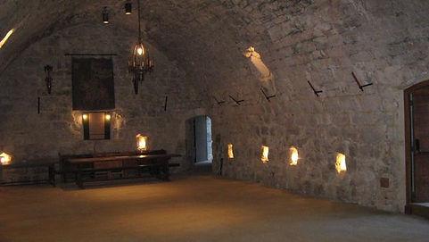 Salle voutée, Château Prat de Cest