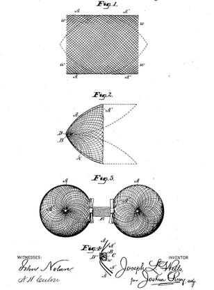 1885 Joseph L Wells 'Bosom-Pad'