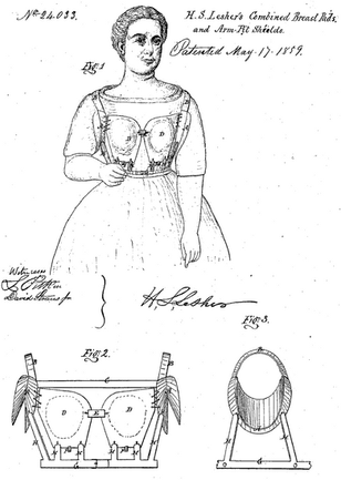 1859 Henry S Lesher 'Breast Pad'
