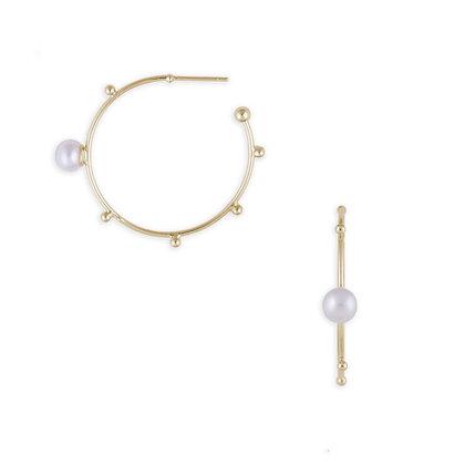 Athena Single Pearl Hoops