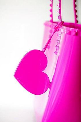 Heart Charm - Fucshia
