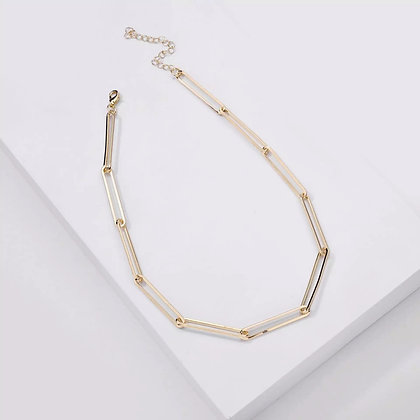 Sophia Paperclip Chain Necklace - Gold