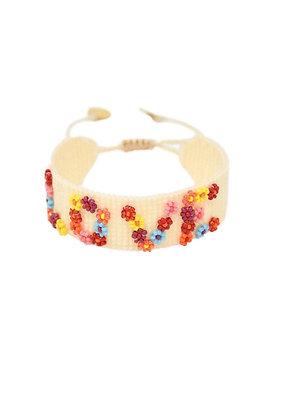 Love is Flower Power Friendship Bracelet