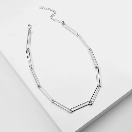 Sophia Paperclip Chain Necklace - Silver