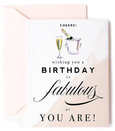 Birthday as Fabulous as You Card