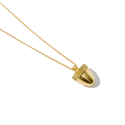 Lois Acorn Canister Necklace