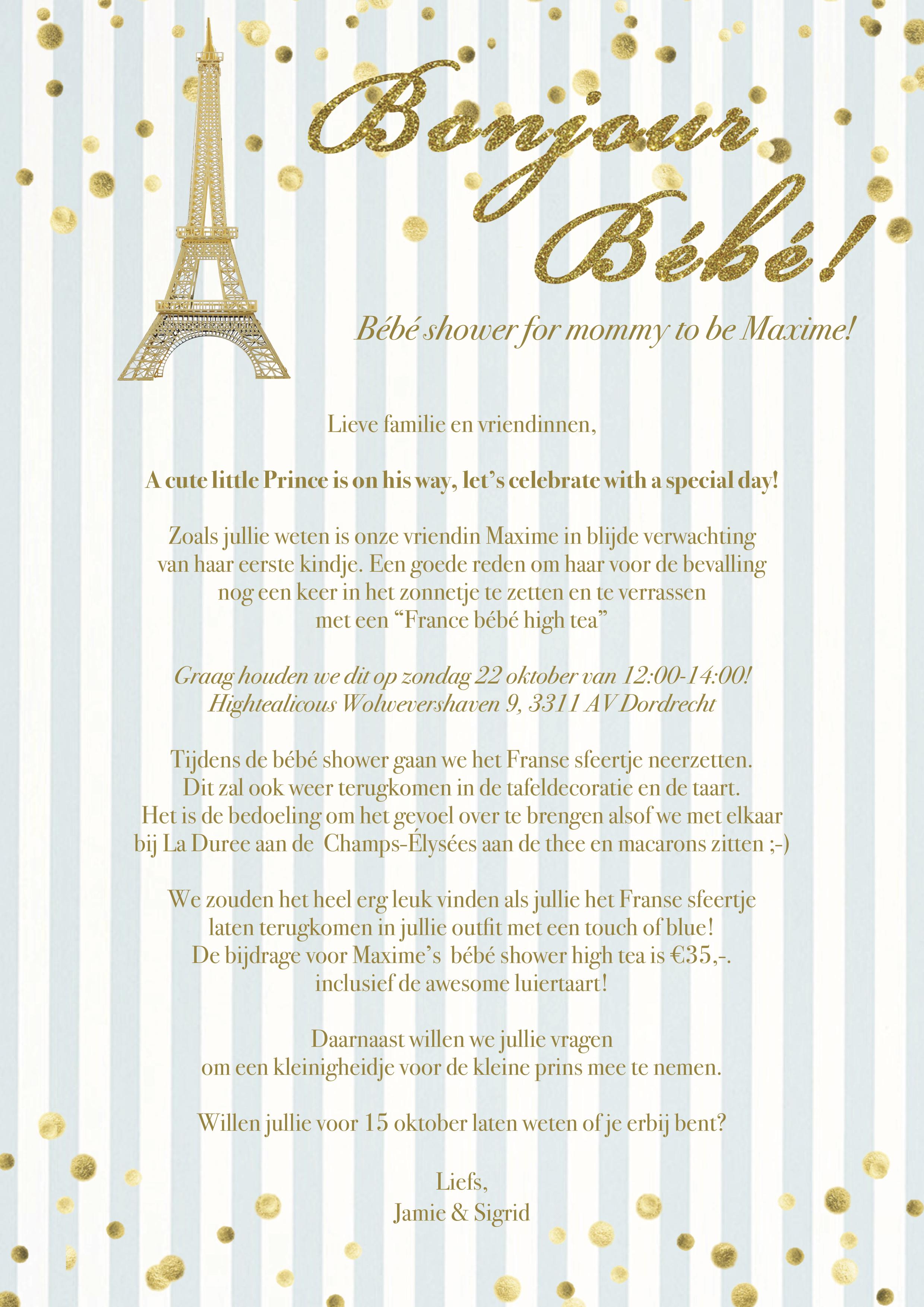 Babyshower Invite