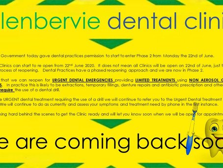 Reopening ...... for limited treatments
