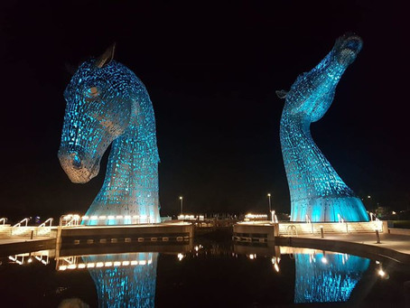 Supernova 5k at the Kelpies