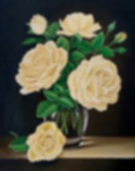Acrylic painting roses still life