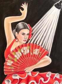 Flamenco pastel portrait
