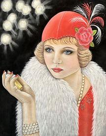 Art Deco Flapper Roaring Twenties Jazz