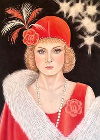 Flapper Art Deco Roaring Twenties portrait
